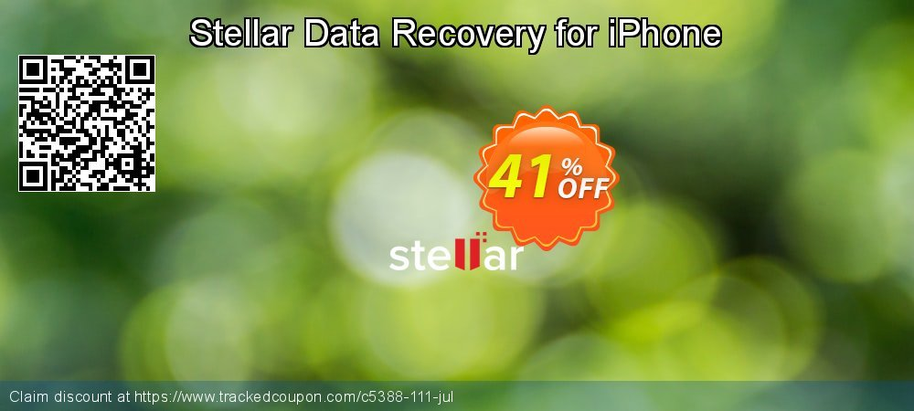 Stellar Data Recovery for iPhone coupon on Lunar New Year promotions