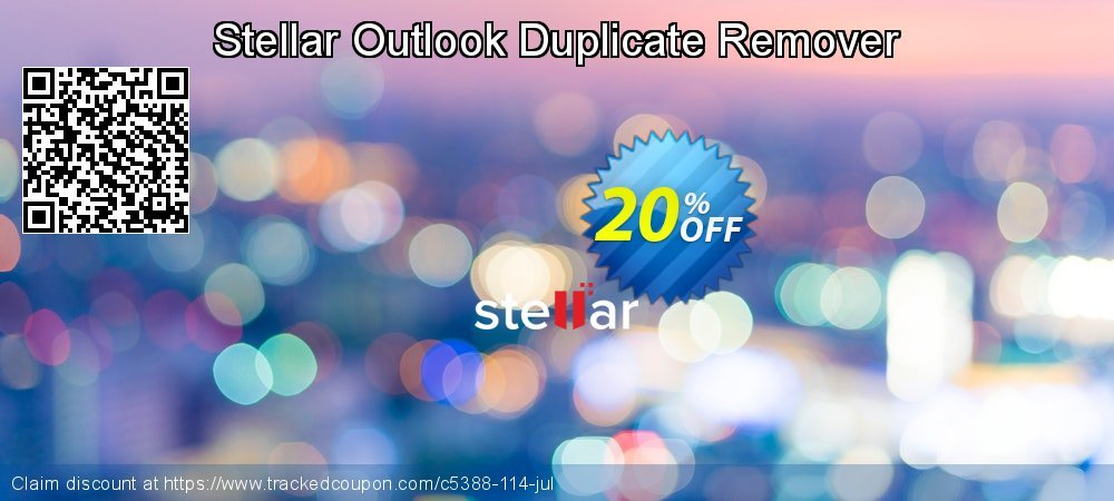 Get 20% OFF Stellar Outlook Duplicate Remover offering sales