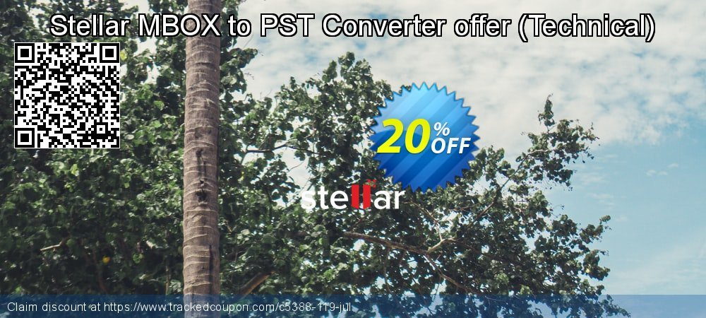 Stellar MBOX to PST Converter offer - Technical  coupon on Lunar New Year discounts