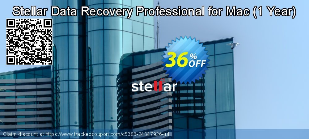 Claim 36% OFF Stellar Data Recovery Professional for Mac - 1 Year Coupon discount August, 2021
