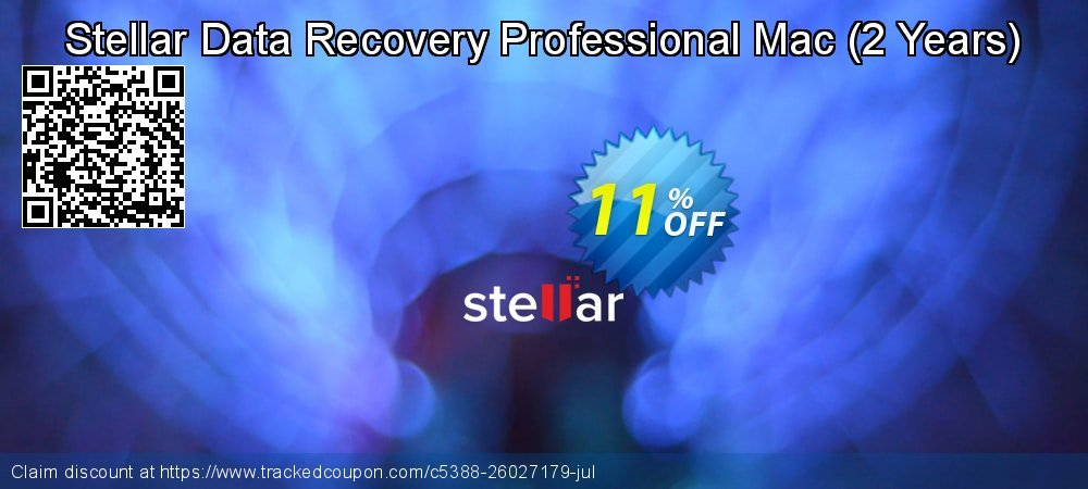 Claim 11% OFF Stellar Data Recovery Professional Mac - 2 Years Coupon discount August, 2021