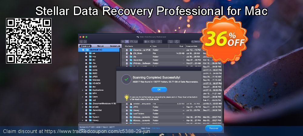Stellar Data Recovery Professional for Mac coupon on Summer offering discount