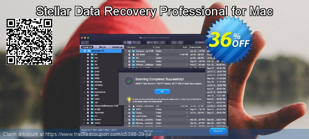 Stellar Data Recovery Professional for Mac coupon on New Year's Day discounts