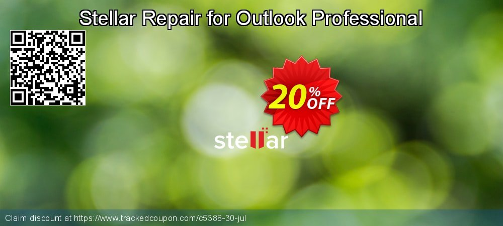 Stellar Repair for Outlook coupon on Halloween promotions