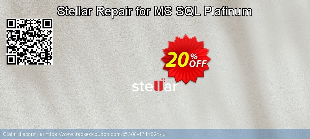Stellar Repair for MS SQL Platinum coupon on New Year promotions