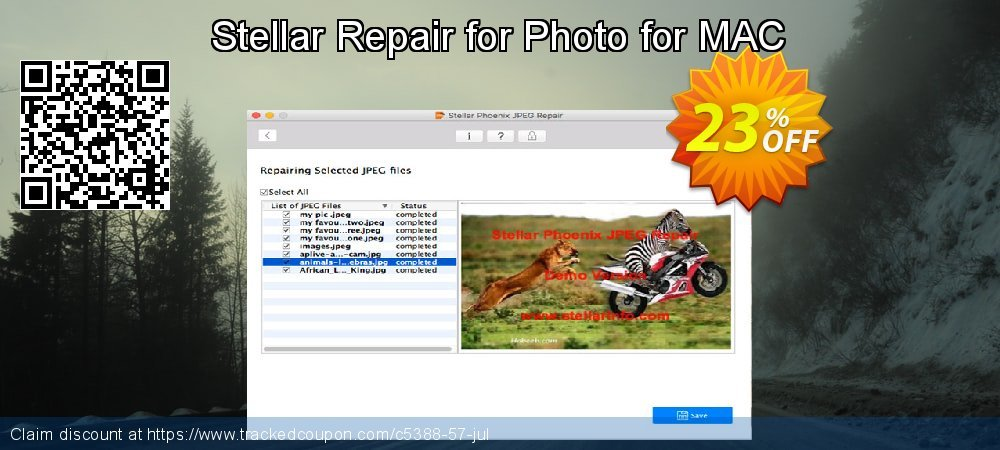 Stellar Repair for Photo for MAC coupon on New Year's Day promotions