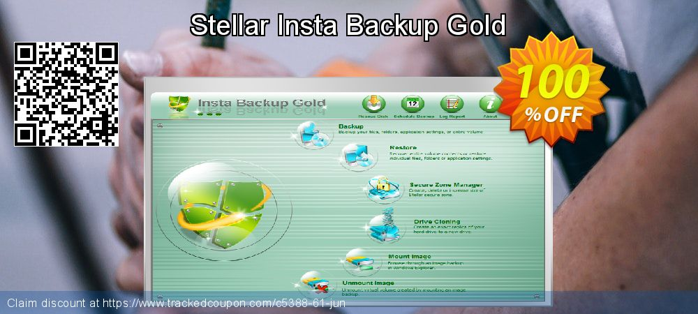 Get 100% OFF Stellar Insta Backup Gold offering deals
