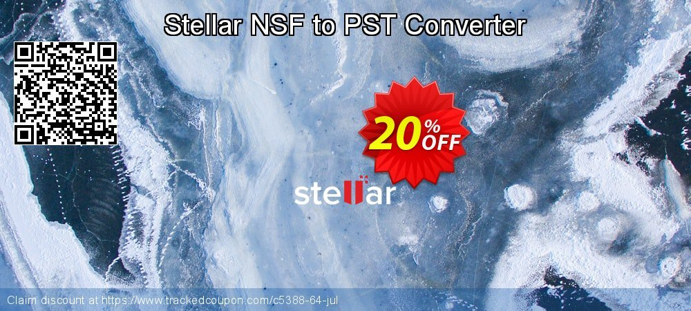 Stellar NSF to PST Converter coupon on New Year super sale