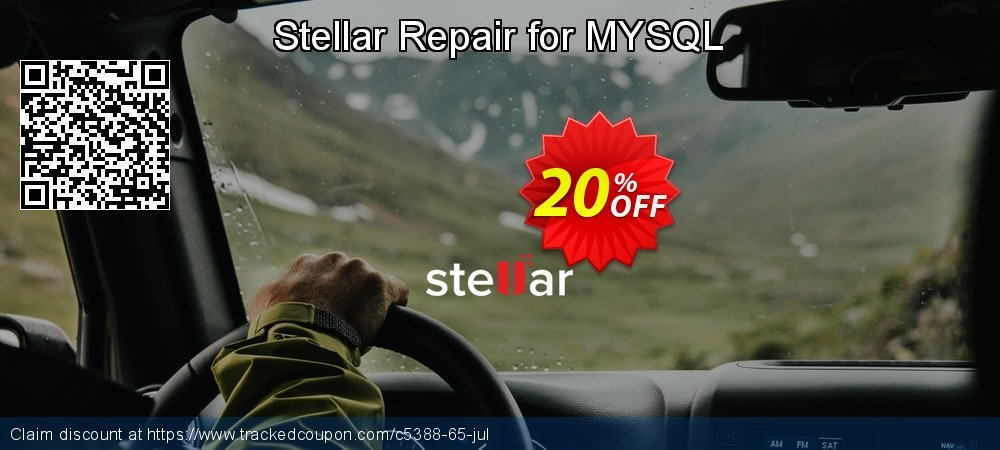 Stellar Repair for MYSQL coupon on New Year's Day discounts