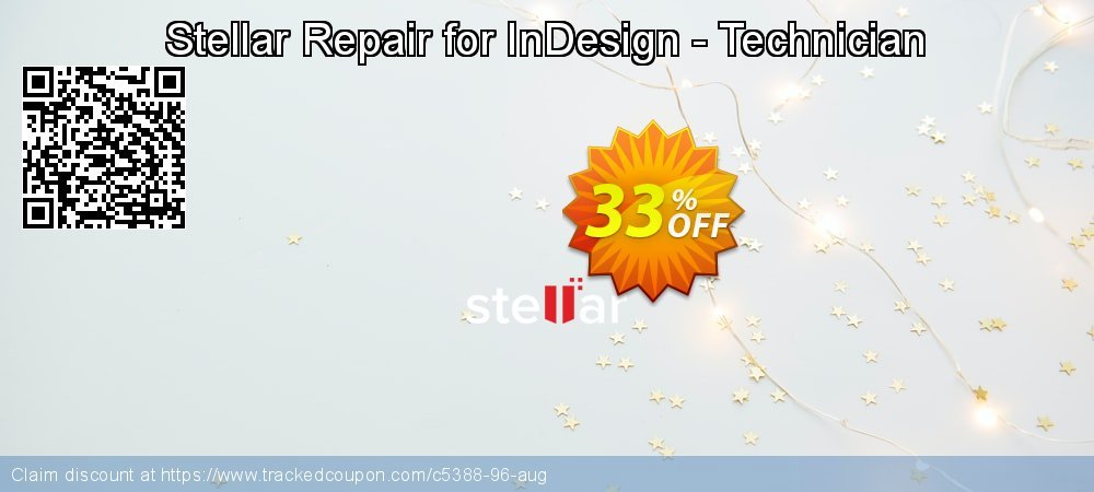 Stellar Repair for InDesign - Technician coupon on New Year offer