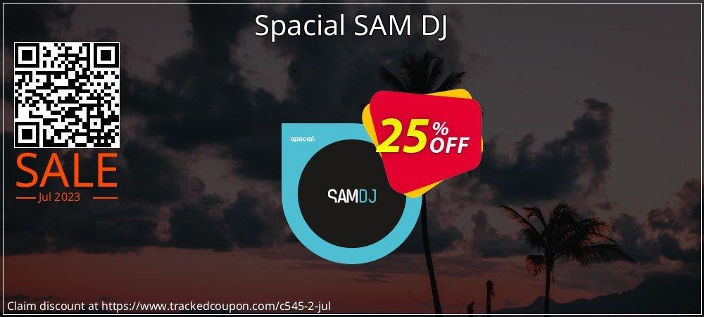Spacial SAM DJ coupon on Mom Day deals