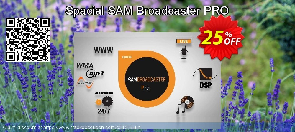 Spacial SAM Broadcaster PRO coupon on Mothers Day offer