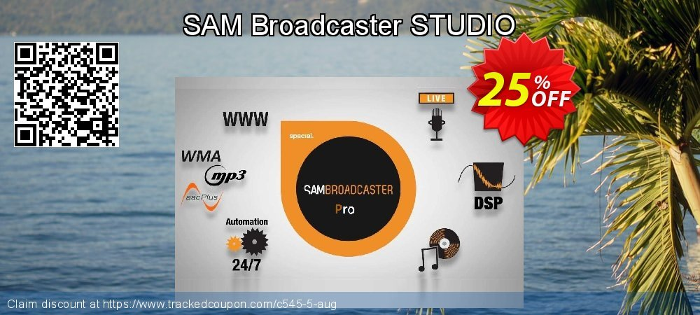 SAM Broadcaster STUDIO coupon on Mothers Day offering discount