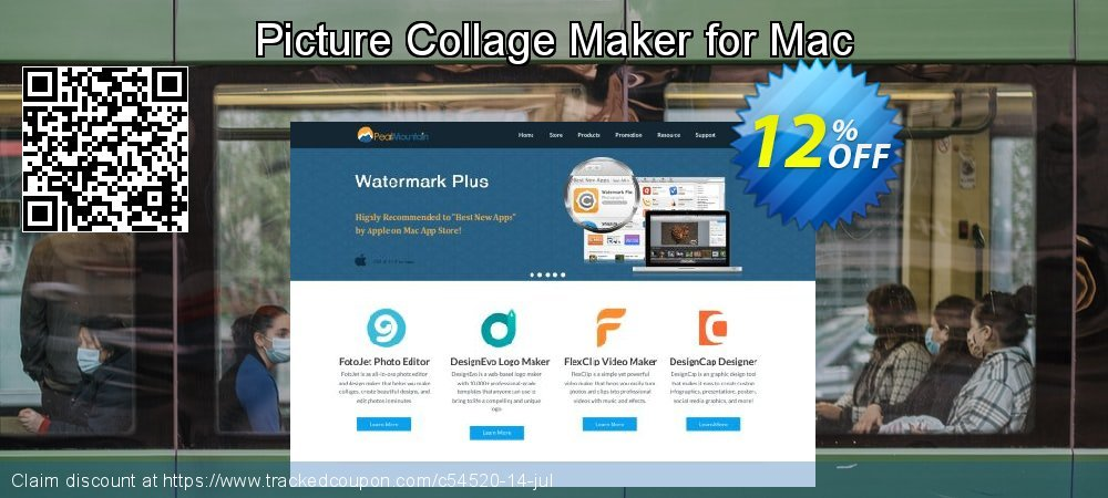 Get 60% OFF Picture Collage Maker for Mac offering sales