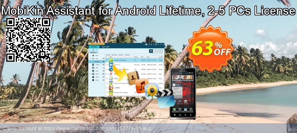 Get 50% OFF MobiKin Assistant for Android - Lifetime, 2-5PCs License offering deals