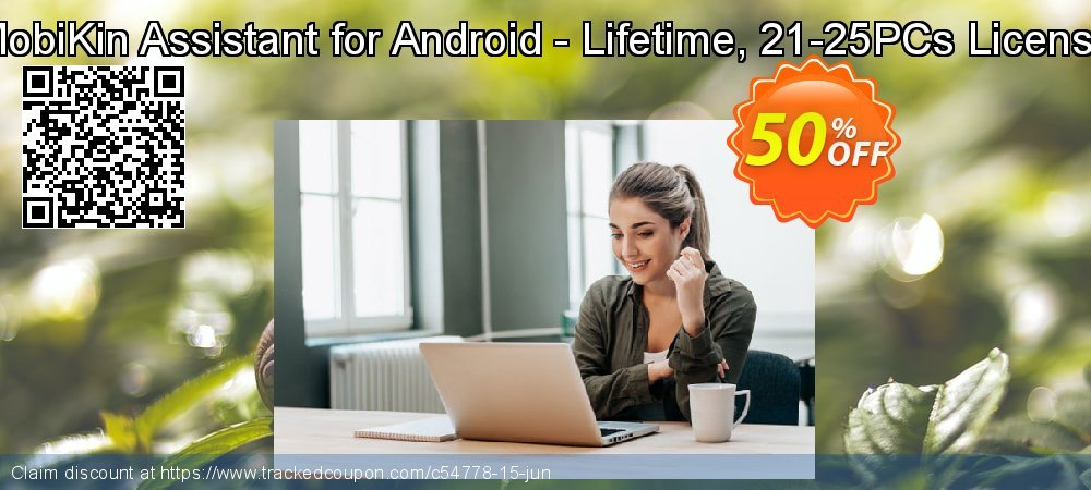 MobiKin Assistant for Android - Lifetime, 21-25PCs License coupon on Emoji Day super sale