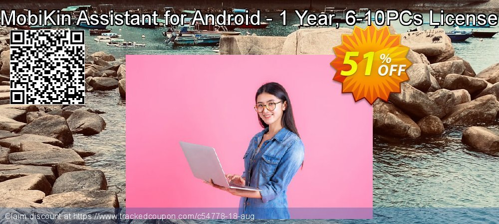 MobiKin Assistant for Android - 1 Year, 6-10PCs License coupon on National Bikini Day sales
