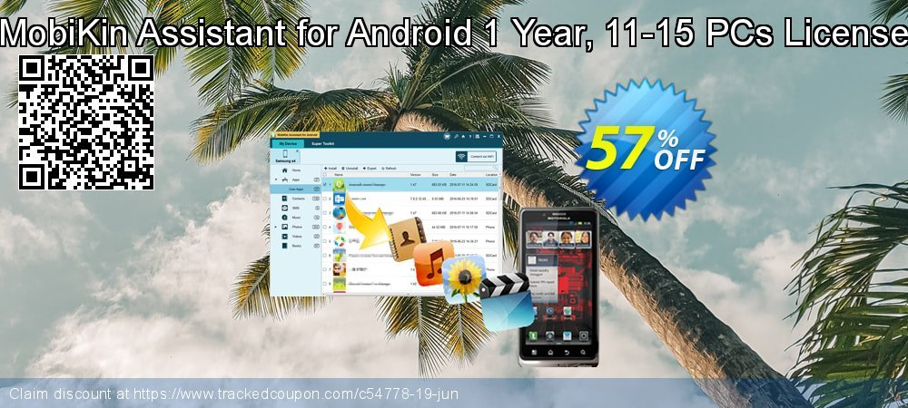 MobiKin Assistant for Android 1 Year, 11-15 PCs License coupon on American Independence Day deals