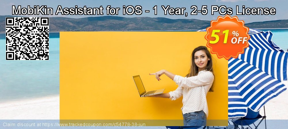 MobiKin Assistant for iOS - 1 Year, 2-5 PCs License coupon on World Population Day offer