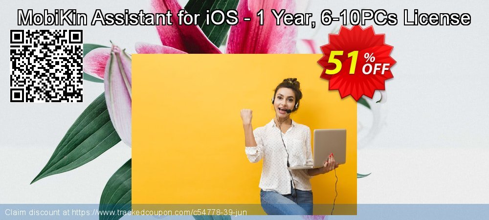 MobiKin Assistant for iOS - 1 Year, 6-10PCs License coupon on Nude Day discount