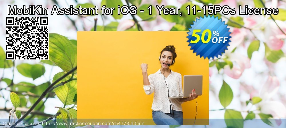 MobiKin Assistant for iOS - 1 Year, 11-15PCs License coupon on Tattoo Day offering discount