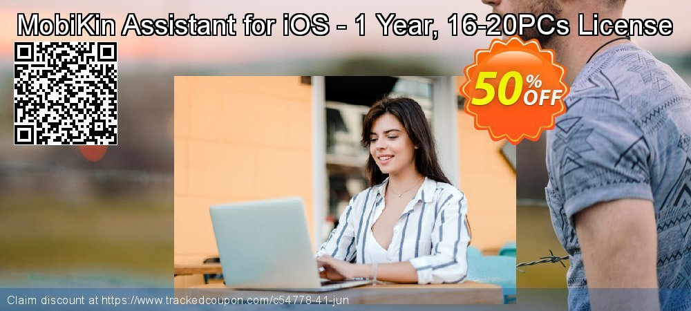 MobiKin Assistant for iOS - 1 Year, 16-20PCs License coupon on Emoji Day offering sales