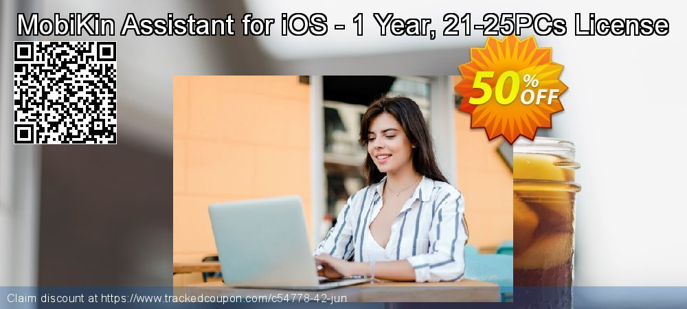 MobiKin Assistant for iOS - 1 Year, 21-25PCs License coupon on Parents' Day super sale