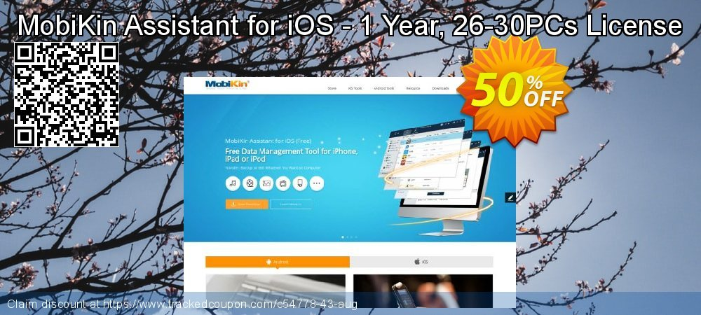 MobiKin Assistant for iOS - 1 Year, 26-30PCs License coupon on Summer discounts
