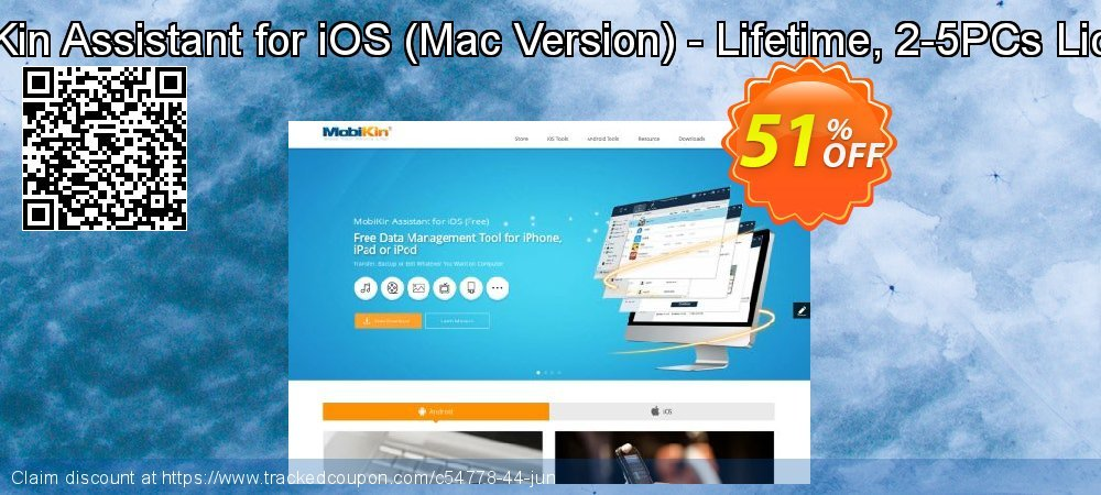 Get 50% OFF MobiKin Assistant for iOS (Mac Version) - Lifetime, 2-5PCs License offering sales