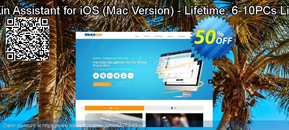 MobiKin Assistant for iOS - Mac Version - Lifetime, 6-10PCs License coupon on American Independence Day sales