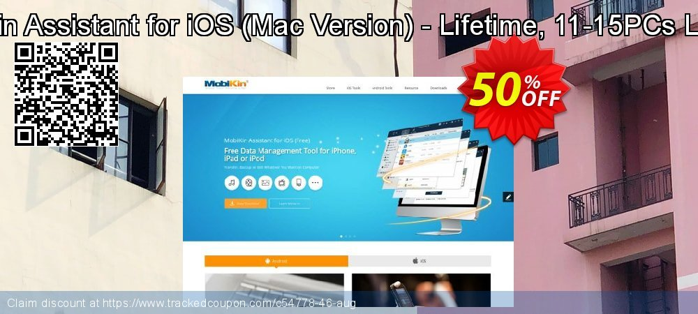 MobiKin Assistant for iOS - Mac Version - Lifetime, 11-15PCs License coupon on World Chocolate Day deals