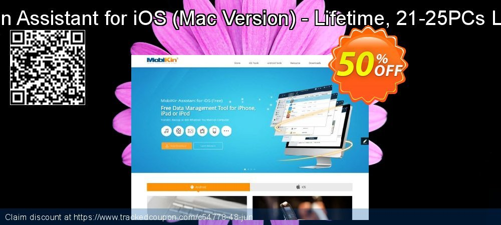 MobiKin Assistant for iOS - Mac Version - Lifetime, 21-25PCs License coupon on World UFO Day discount