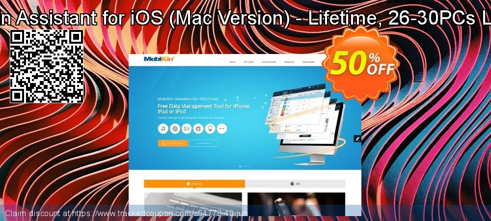 MobiKin Assistant for iOS - Mac Version - Lifetime, 26-30PCs License coupon on Eid al-Adha offering discount