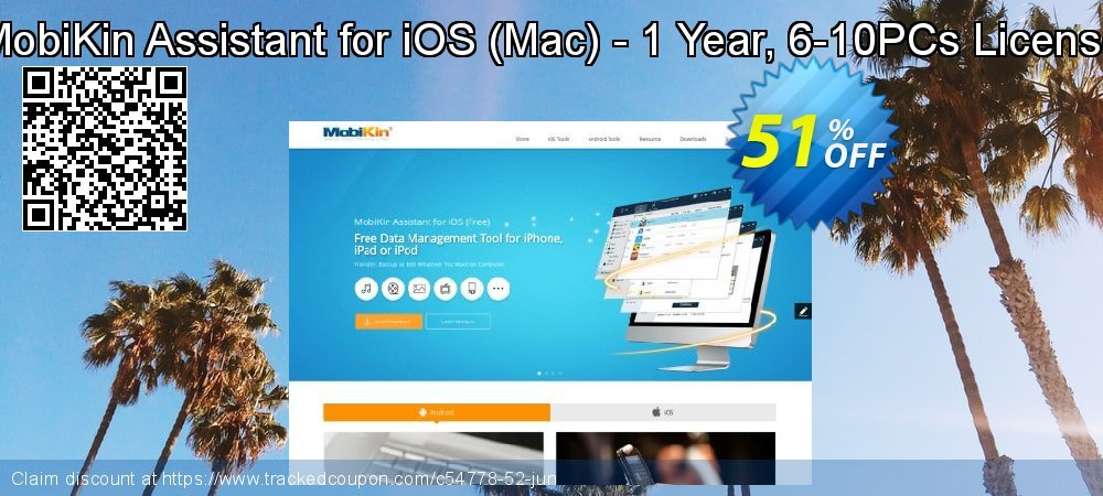 MobiKin Assistant for iOS - Mac - 1 Year, 6-10PCs License coupon on Nude Day discounts