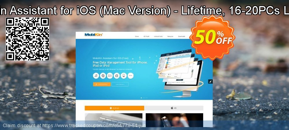 Get 50% OFF MobiKin Assistant for iOS (Mac Version) - Lifetime, 16-20PCs License offering sales