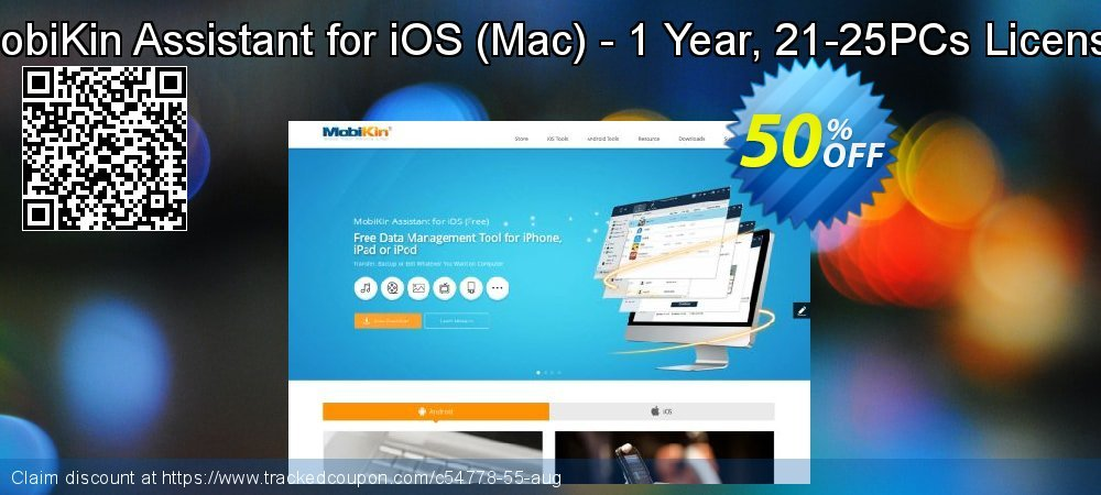 MobiKin Assistant for iOS - Mac - 1 Year, 21-25PCs License coupon on Parents' Day deals