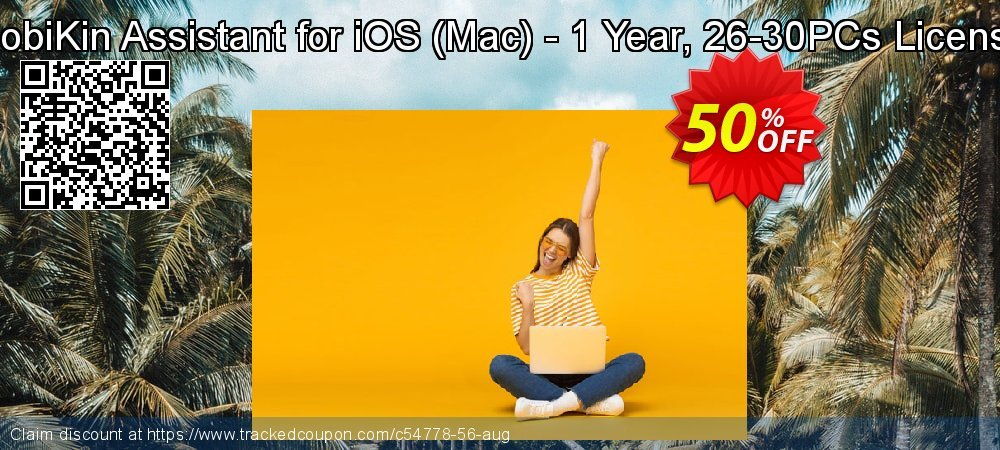 MobiKin Assistant for iOS - Mac - 1 Year, 26-30PCs License coupon on Summer offer