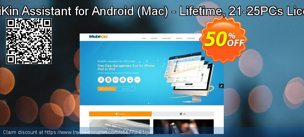 MobiKin Assistant for Android - Mac - Lifetime, 21-25PCs License coupon on World UFO Day discounts