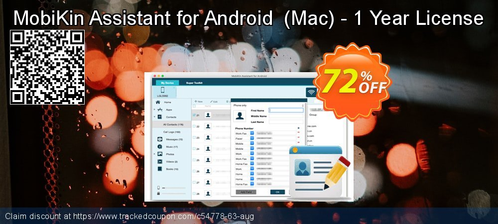 MobiKin Assistant for Android  - Mac - 1 Year License coupon on Video Game Day sales