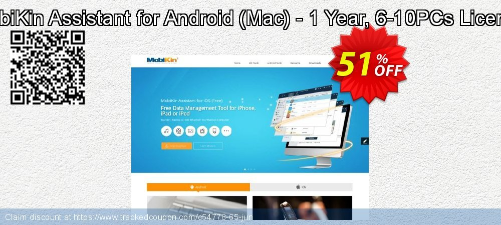 MobiKin Assistant for Android - Mac - 1 Year, 6-10PCs License coupon on Nude Day offer