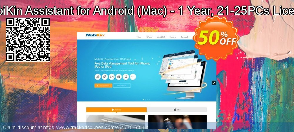 MobiKin Assistant for Android - Mac - 1 Year, 21-25PCs License coupon on Parents' Day offering sales