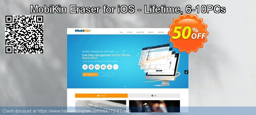 MobiKin Eraser for iOS - Lifetime, 6-10PCs coupon on Read Across America Day offer