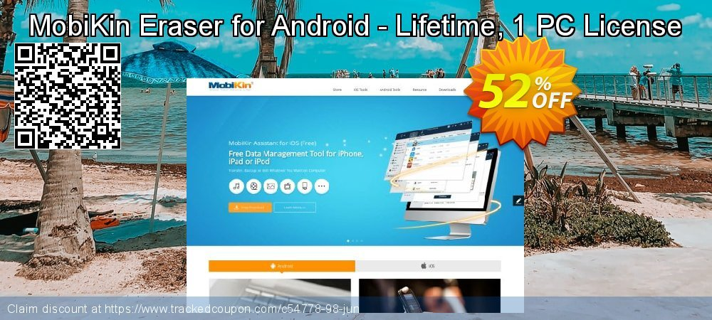MobiKin Eraser for Android - Lifetime, 1 PC License coupon on May Day super sale