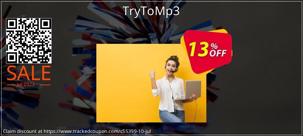 Get 10% OFF TryToMp3 promo