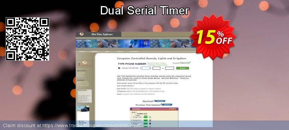 Get 15% OFF Dual Serial Timer promotions