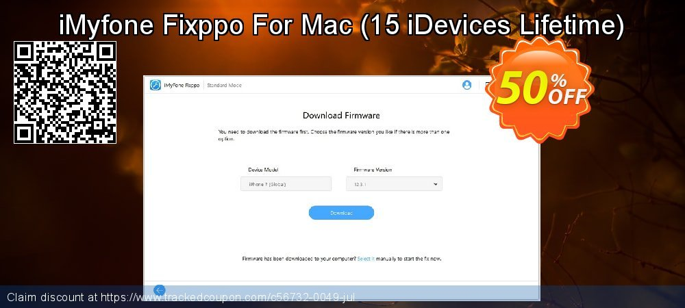 iMyfone Fixppo For Mac - 15 iDevices Lifetime  coupon on Halloween promotions