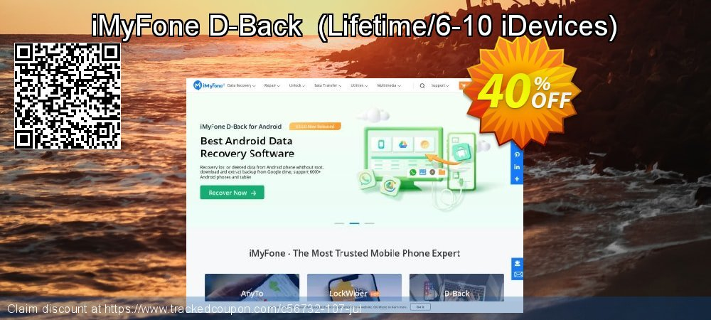 iMyFone D-Back  - Lifetime/6-10 iDevices  coupon on Halloween discount