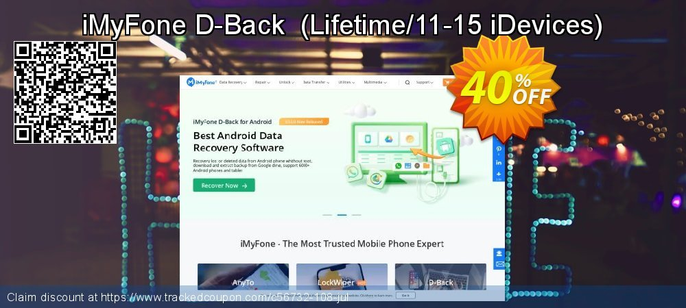 iMyFone D-Back  - Lifetime/11-15 iDevices  coupon on Halloween offering discount