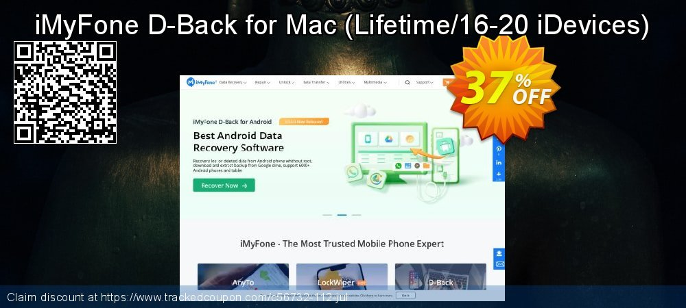 iMyFone D-Back for Mac - Lifetime/16-20 iDevices  coupon on Halloween promotions