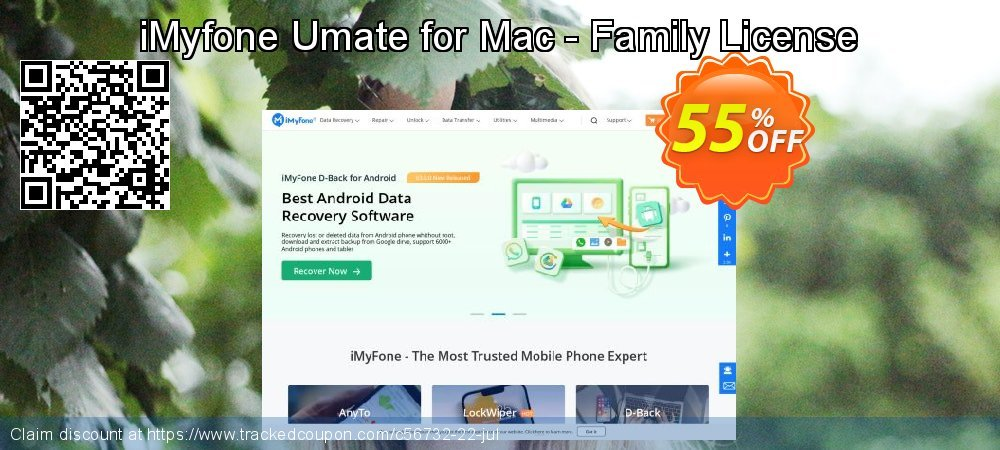 iMyfone Umate for Mac - Family License coupon on Halloween promotions